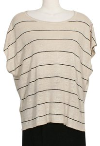 Eileen Fisher Top Beige Black