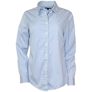 Gap Shirt Striped White/blue Cotton Tailored Button Down Shirt White/Blue Stripes