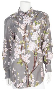 Dolce&Gabbana Button Down Shirt grey & floral