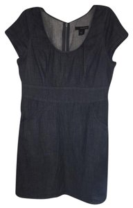 Calvin Klein short dress Denim, dark blue on Tradesy