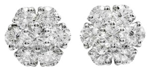 Other 2.55 Carats Natural Diamond 14K Solid White Gold Stud Earrings