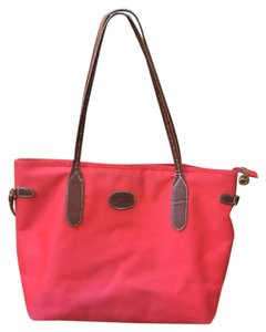 LongChamp Red And Brown Tote Bag Purse Tote in Red Brown