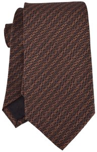 Gucci NEW Gucci Men's 351825 Brown Grey Interlocking GG Horsebit Silk Tie