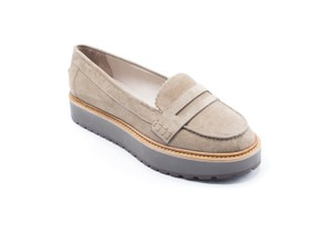 Brunello Cucinelli Women's Loafers Slip Ons Suede Leather Grey Flats