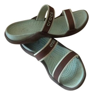 Crocs Sea blue and brown Sandals