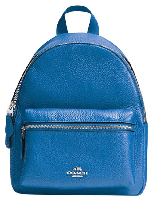 Item - Charlie Mini In Pebble 38263 Silver/Lapis Leather Backpack