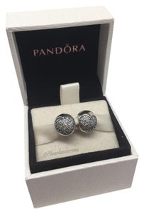 PANDORA 2 Pandora love of my life cz clear clips in original gift pouch