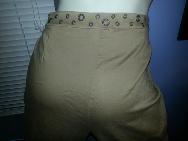 Peter Nygard Comfortable Stretchy Brass Ring Accents Khaki/Chino Pants Khaki Image 4