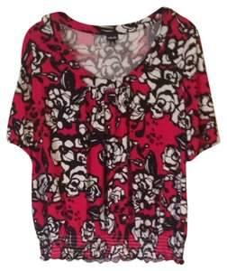 Rafaella Top Fuscia/Black/White