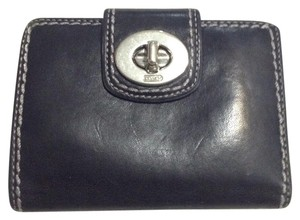 Coach Coach Black Leather Turnlock Wallet