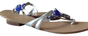 Pelle Moda Silver and blue Sandals