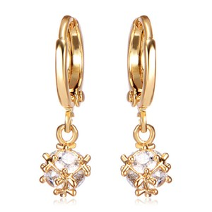Other New 10K Gold Filled Cubic Zirconia Drop Earrings J3351