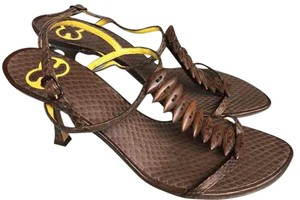 Escada Brown Heels Sandals