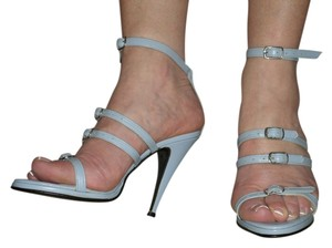 SCARPINA Straps Buckles Sexy Strappy Slate Blue Sandals