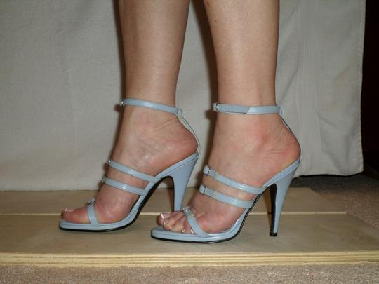 SCARPINA Straps Buckles Sexy Strappy Italy Slate Blue Sandals
