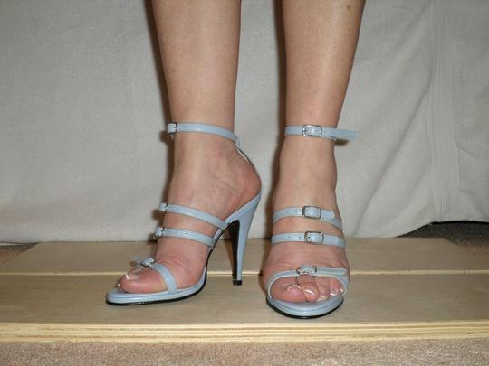 SCARPINA Straps Buckles Sexy Strappy Italy Slate Blue Sandals Image 2