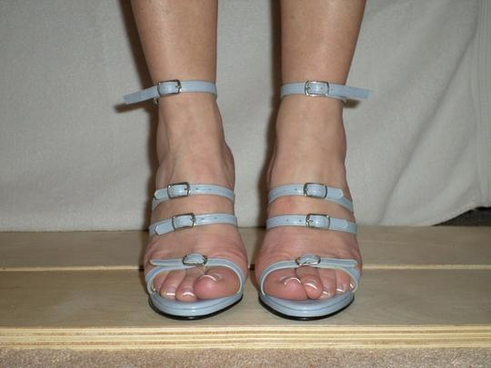 SCARPINA Straps Buckles Sexy Strappy Italy Slate Blue Sandals Image 3