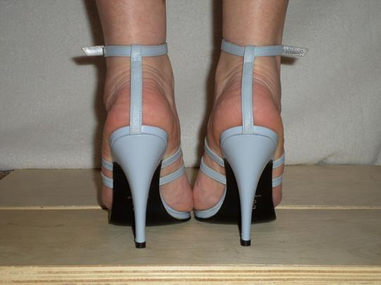 SCARPINA Straps Buckles Sexy Strappy Italy Slate Blue Sandals Image 4