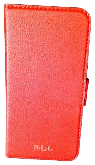 Item - Red Leather Iphone 5 Case with Credit Card Slots Tech Accessory