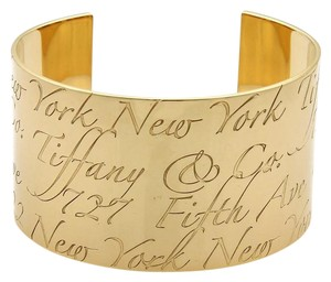 a7d9b0c22 Tiffany & Co. NOTES 40mm Wide Cuff Band Bracelet in 18k Yellow Gold