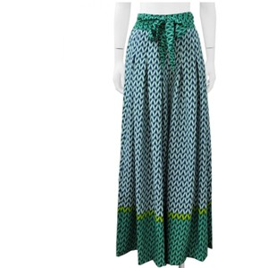 Gracia Palazzo Tribal Wide Leg Pants GREEN