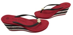 Juicy Couture Multi Color Thong Slip on Open toe padded insoles Wedges
