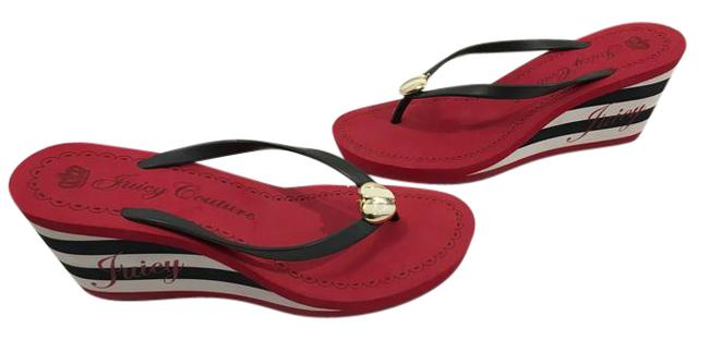 Item - Multi Color Thong Slip On Open Toe Padded Insoles Wedges Size US 11 Regular (M, B)