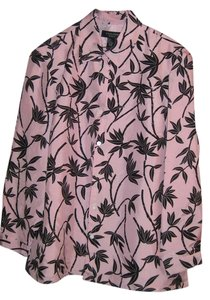 SilkLand Silk Plus-size Top Pink, Black