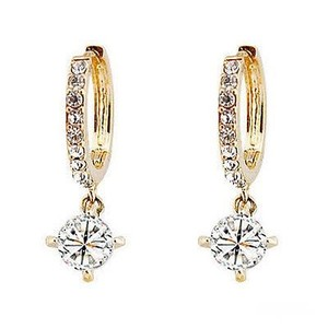 Other New 10K Gold Filled Drop Cubic Zirconia Earrings J3358