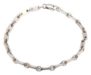 Cartier 18K White Gold Fancy Long Bar Link Bracelet