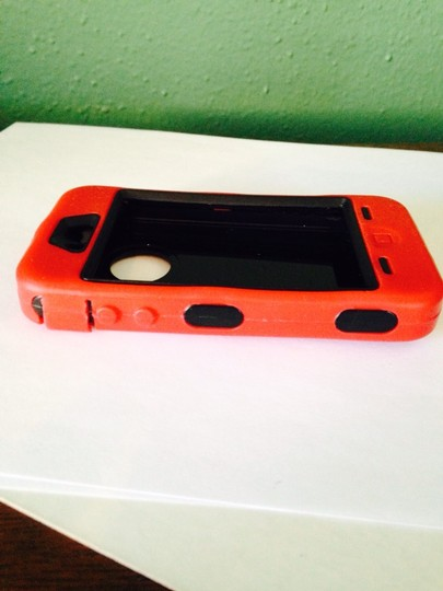 Bull Frog Red Rubber Over Black Hardcase iPhone 5 Holder