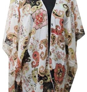 Paisley Kimono And Buttery Soft Leggings Button Down Shirt Multi and Black