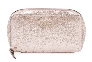 Kate Spade Kate Spade Rose Gold Glitter Bug Travel Jewelry Cosmetic Case