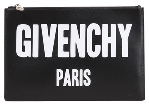 d05e45d469 Added to Shopping Bag. Givenchy Clutch. Givenchy Black Leather Logo Clutch