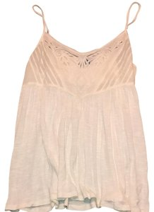American Eagle Outfitters Ae Lace Flowy Top Cream