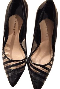 Gianni Bini Black and clear plastic Pumps