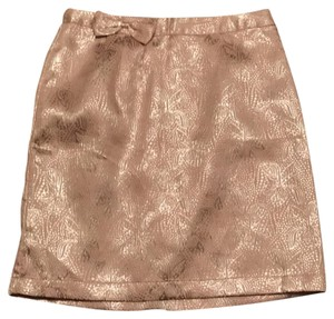 Tulle Metallic Pencil Bow Skirt Cream