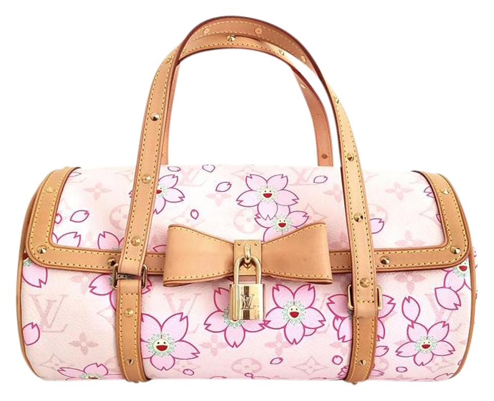 41a0f08c9307 Louis Vuitton Papillon Cherry Blossom Limited Edition Satchel in Pink Image  0 ...