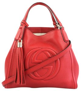 Gucci Soho Red Leather Satchel in Tabasco Red
