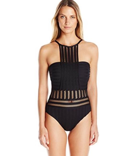 Kenneth Cole Reaction Kenneth cole reaction tough luxe crochet high-neck one piece swimsuit Image 1