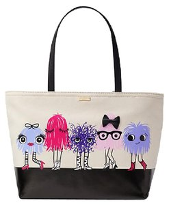 Kate Spade Limited Edition Big Eye Face Leather Monster Face Tote in multi