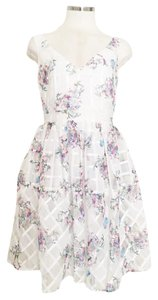 Anthropologie short dress White Floral Floral Summer on Tradesy
