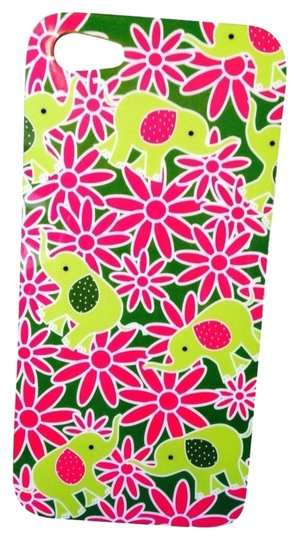 Vera Bradley Green Elephant & Hot Pink Flowers Soft Rubber iPhone 5 Case
