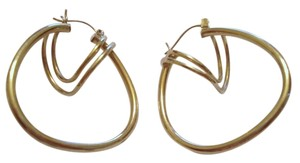 Unknown SOLID 10k 10kt Yellow Gold Multi-Hoop Hoop Earrings 1 5/16
