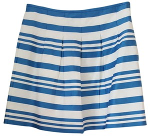 Ann Taylor LOFT Skirt Striped White and Blue