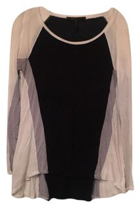 BCBGMAXAZRIA Top Black, White, Grey