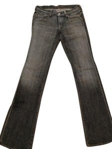 7 For All Mankind Acid Wash Boot Cut Jeans-Light Wash
