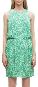 Whistles short dress green and white on Tradesy