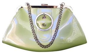 Beijo Lime green/pearl Clutch