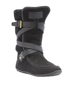 Louis Vuitton Mid - Calf Suede Leather Black Boots